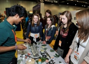 Deepesh involved in educational outreach at a Science Fair