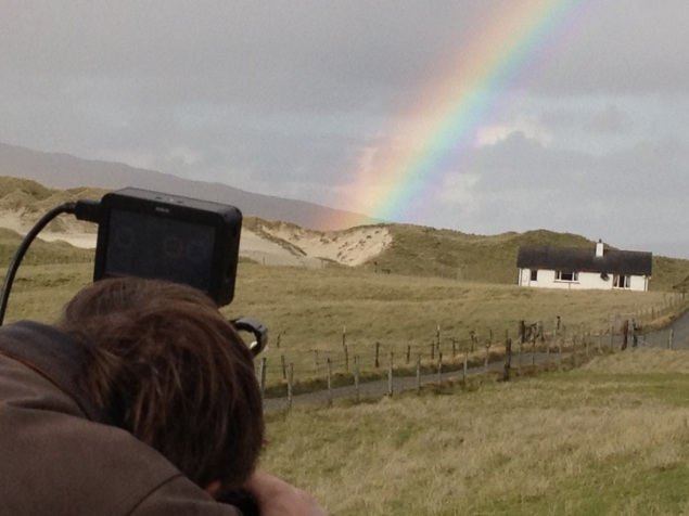 Andy filming a pot of gold