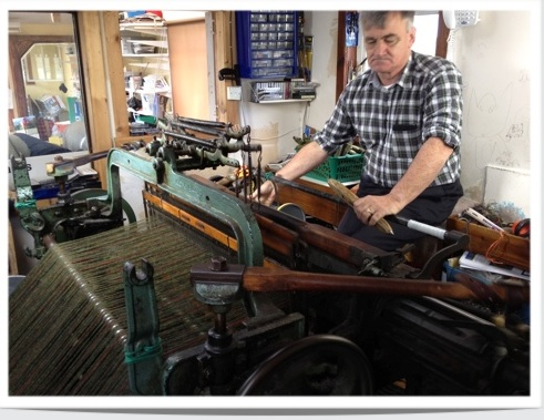 Donald John Mackay making Harris Tweed
