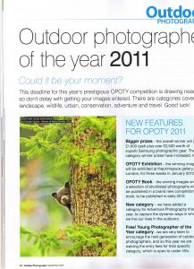 OUTDOOR PHOTOGRAPHER OF THE YEAR 2011 CONTEST information p.1