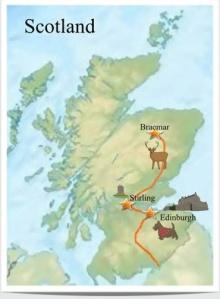 WildOpenEye Scottish film shoot map