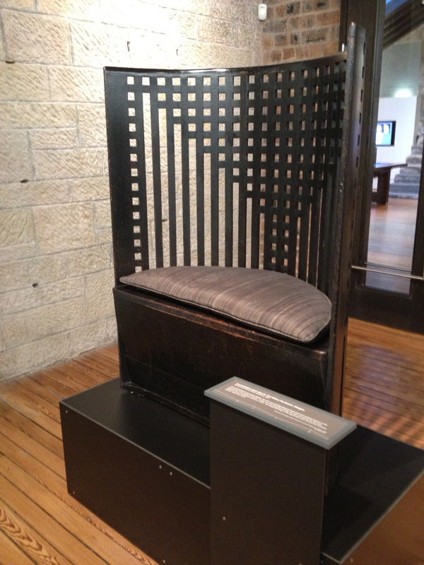 Glasgow school of art has an incredible collection of designer Charles Macintosh's furniture