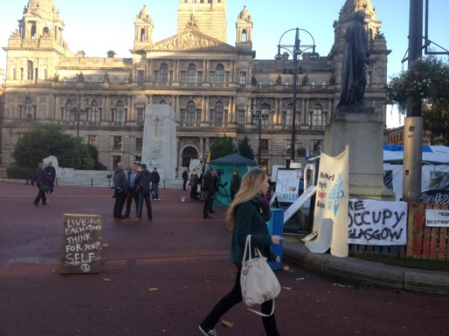 Demonstration posters glasgow