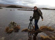 Andy filming at Loch Ba