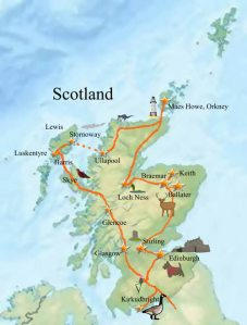 Our trip took us all around Scotland's lovely coast and out to Orkney and the Hebrides