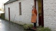 Hazel Campbell in front of her studio