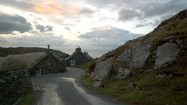The delightful Blackhouse village cottages,  Lewis