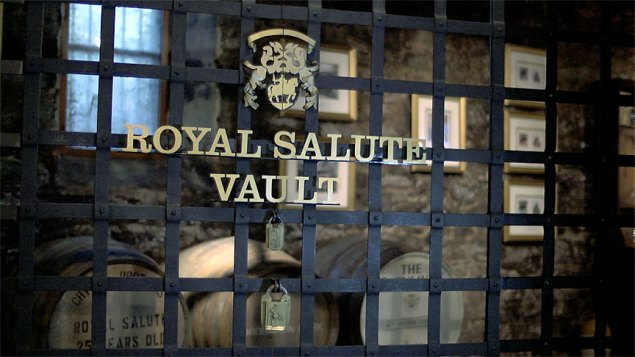 The Royal Salute Vault at Strathisla Distillery