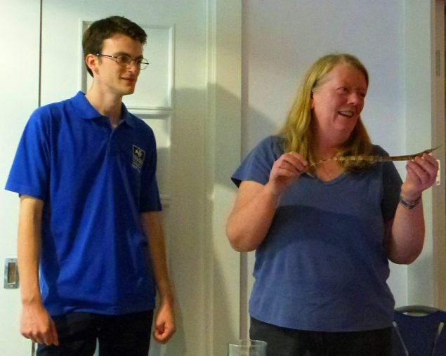 Kay passed a pipefish found dried on the strandline, an ambassador of Cumbria's unusual sea life.