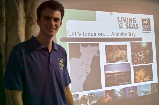 Jonathan Holt talking about Allonby Bay's marine environment