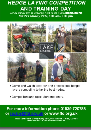 FLD Hedge Laying Poster