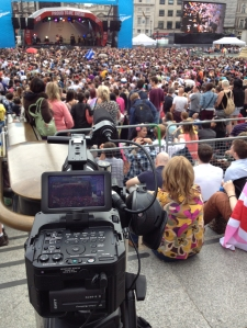 Filming the Pride concert with the FS700