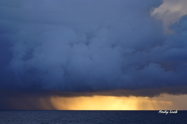 Storm over sea by Andy Luck