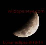The lunar eclipse October 8th 2014 as seen from Crawfish Springs, Farmerville in Northeast Louisiana at 4.48 am