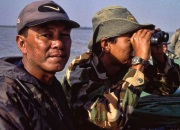 Part of The Thin Green Line, Rangers patrolling the Irrawady Delta, Myanmar