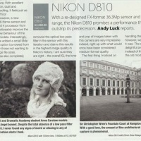 Nikon D810 reviewed for Black + White Photography Magazine Issue 174, March 2015, by Andy Luck