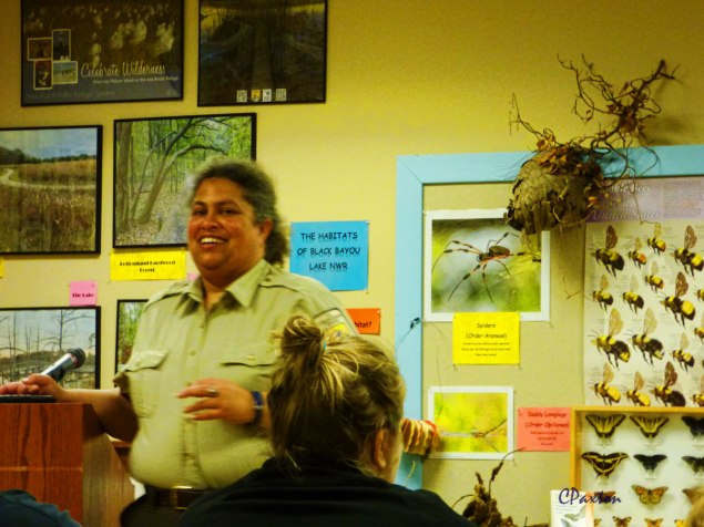 NWFS Ranger Nova Clarke teaching us about frogs and their calls.