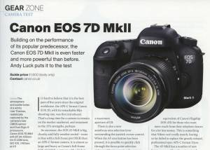 My review of the Canon EOS 7D MkII in the May issue of Outdoor Photography Magazine.