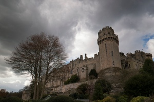 The brooding 14th century Caesar's tower at Warwick Castle photographed with the Samsung NX1