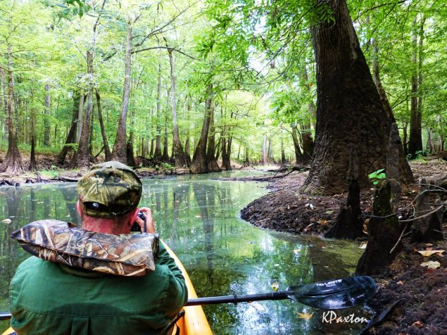 A lesser spotted Redneck photographer enjoying Bayou Deloutre. Photo and copyright K.Paxton