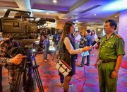 Press interview for environmental heroes in Hanoi. ENV photo and copyright.