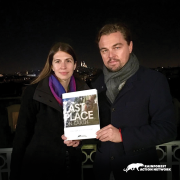 Leonardo DiCaprio and Lindsey Allen of Rainforest Action Network