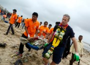 The award-winning community beach clean up in Mumbai.
