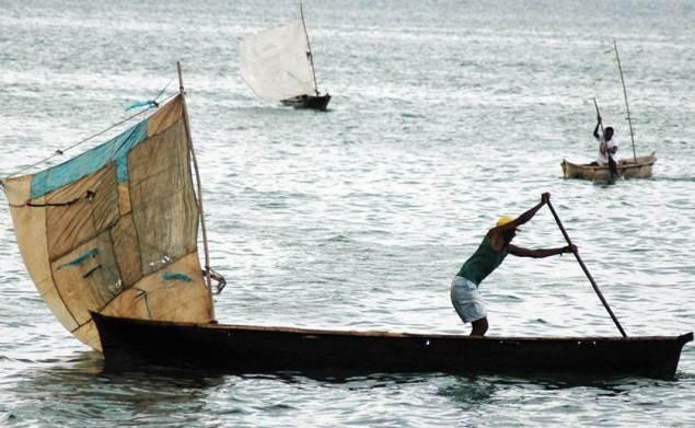 Fishermen off São Tomé and Príncipe