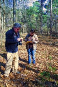 Expert botanist Chris Doffit exploring species at Crawfish Springs with us.