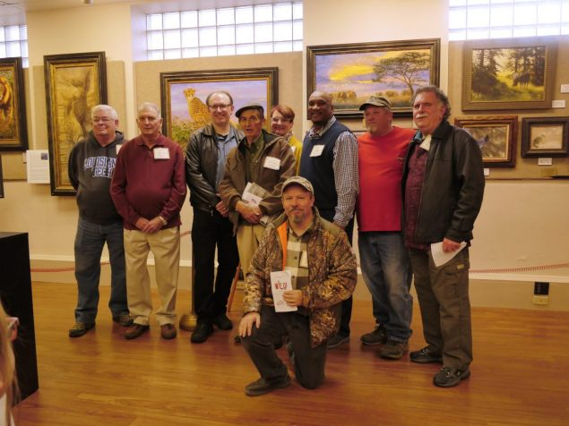 Exhibiting artists gathered for the opening party at Union Museum of History and Art in Farmerville. K. Paxton image