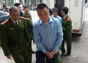 Nguyen Mau Chien charged with the smuggling of 36kg of rhino horn amongst other things. ENV photo and copyright.