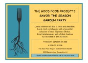 Savor The Season Garden Party flyer