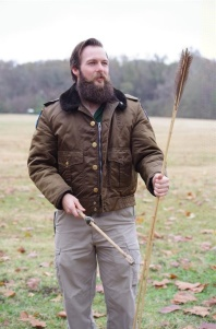 Ranger Mark describing the advantages of the Atlatle spear thrower. C.Paxton image.