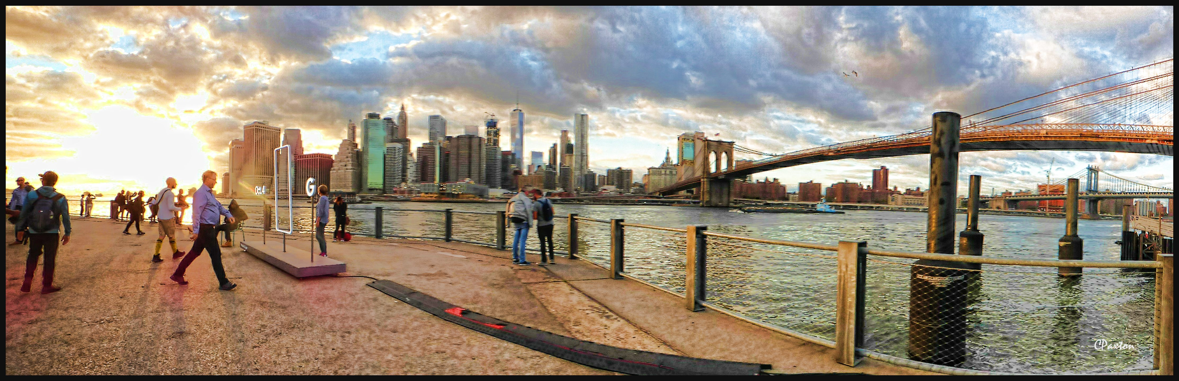 New York's Manhattan Island as viewed from Brooklyn Bridge Park