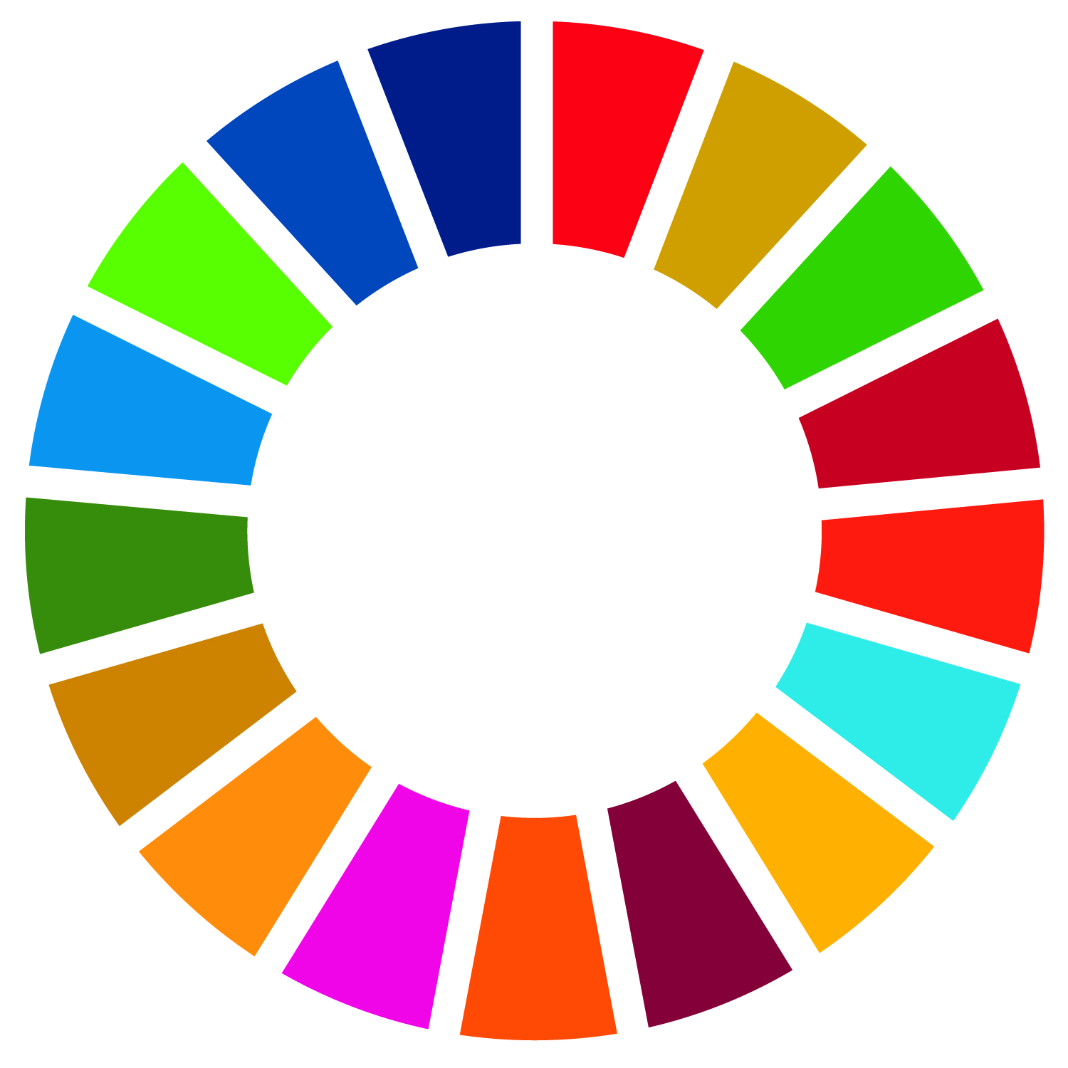 Click on the sustainable development color wheel to visit the UN's sustainable development goal website.