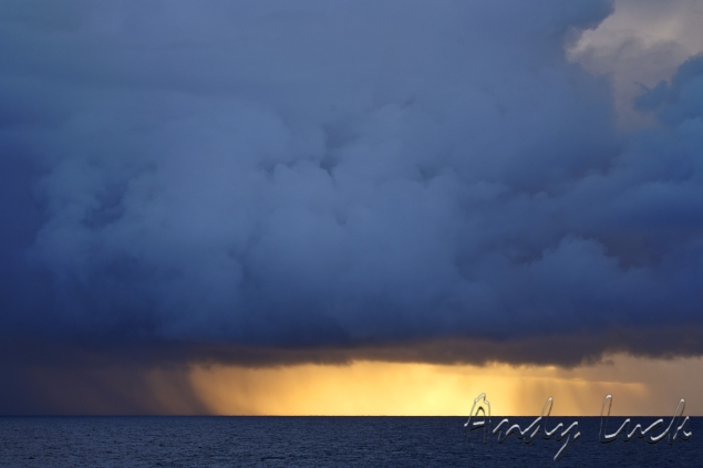 Stormy sky and seascape by Andy Luck