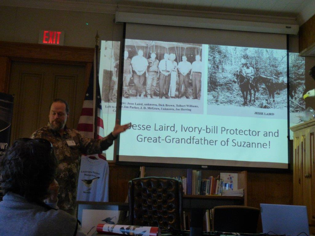 Matt talking about Suzanne's grandfather Jesse Laird's work with the Ivory-bill
