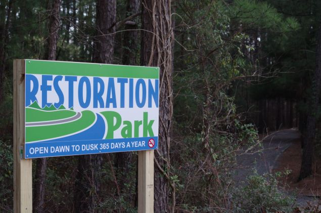 Restoration Park in West Monroe is a fantastic example of clean-up and re-use. It was once a garbage dump, now it is a great asset to wildlife, locals and visitors alike!