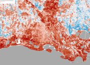 Spatial map of the Biodiversity Intactness Index of Louisiana (2016)